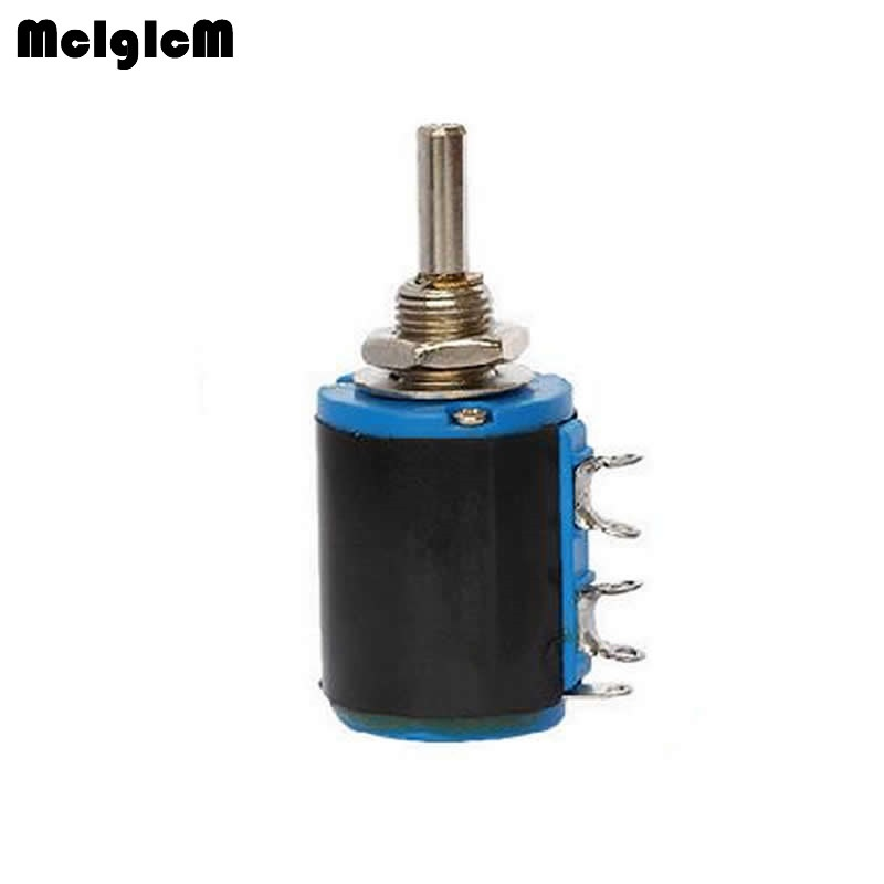 MCIGICM WXD3 12 1W 5 ring multi circle precision wire wound potentiometer 100 ohm 1K 2.2K 3.3K 4.7K 10K 47K ohm-in Potentiometers from Electronic Components & Supplies    1
