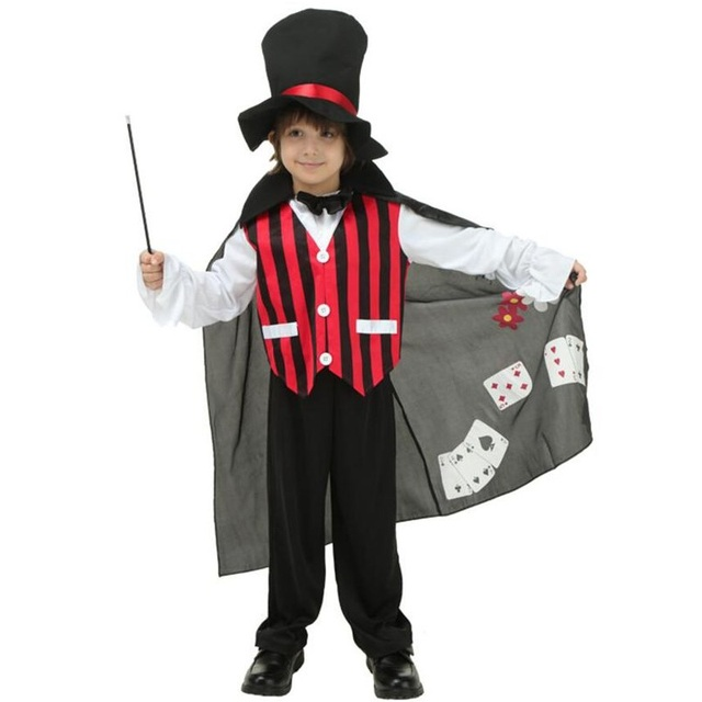 c1ccd2fa9e32f Disfraz Cosplay de Mago para niños de Halloween con gorras y sombrero  uniforme de caballero para