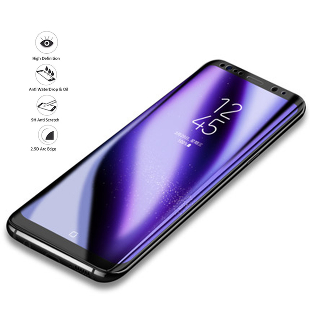 2019 Tempered Glass For samsung s9 Screen Protector For Samsung galaxy s8 galaxy a7 2018 2.5D 9H Ultra-thin Protective Film
