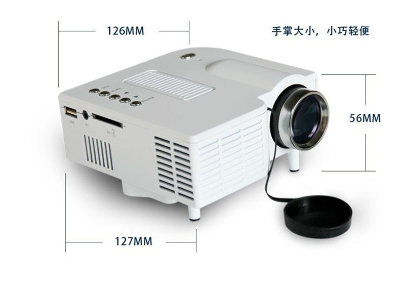 UC28+ Portable mini LED Projector projecteur Home Theater HDMI VGA AV USB SD lamp Remote Control proyector (11)