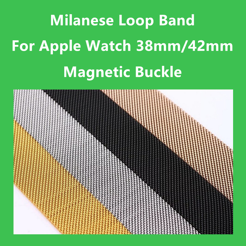 Milanese Loop Band 1:1 For Apple Watch 42mm 38mm Milanese Magnetic Bracelet Stainless Steel Strap For iWatch Band Series 1 2 3 new best price milanese magnetic loop stainless steel band strap bracelet for huawei honor 3 smart watch drop shipping jan8