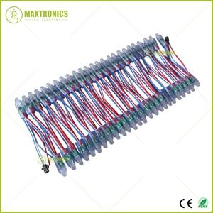 Image 4 - 50 pçs/lote 12mm ws2811 2811 ic rgb led módulo de corda à prova dwaterproof água dc12v digital cor cheia led pixel luz frete grátis
