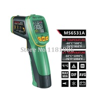 MASTECH MS6531A Handheld Non contact Infrared Thermometer Point Temperature Gun with K type Thermocouple Temperature Measurement