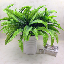 Simulation fern grass green plant artificial fern persian leaves flower wall hanging plants home wedding shop decoration(China)