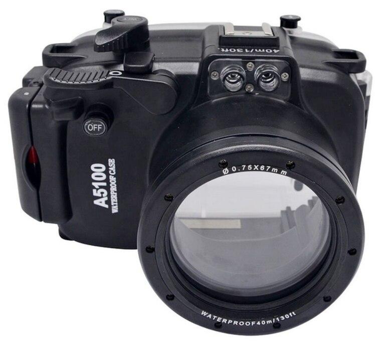 Waterproof Underwater Housing Camera bag Case for Sony A5100 16-50mm Lens waterproof underwater housing camera bag case for sony a6000 16 50mm lens