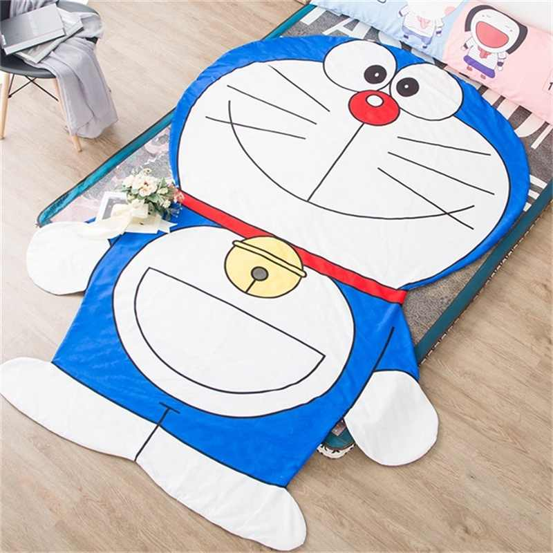 Japanese Cartoon Doraemon Rilakkuma Chibi Maruko Chan Thin Quilt Polyester Air Condition Summer Blanket for Children