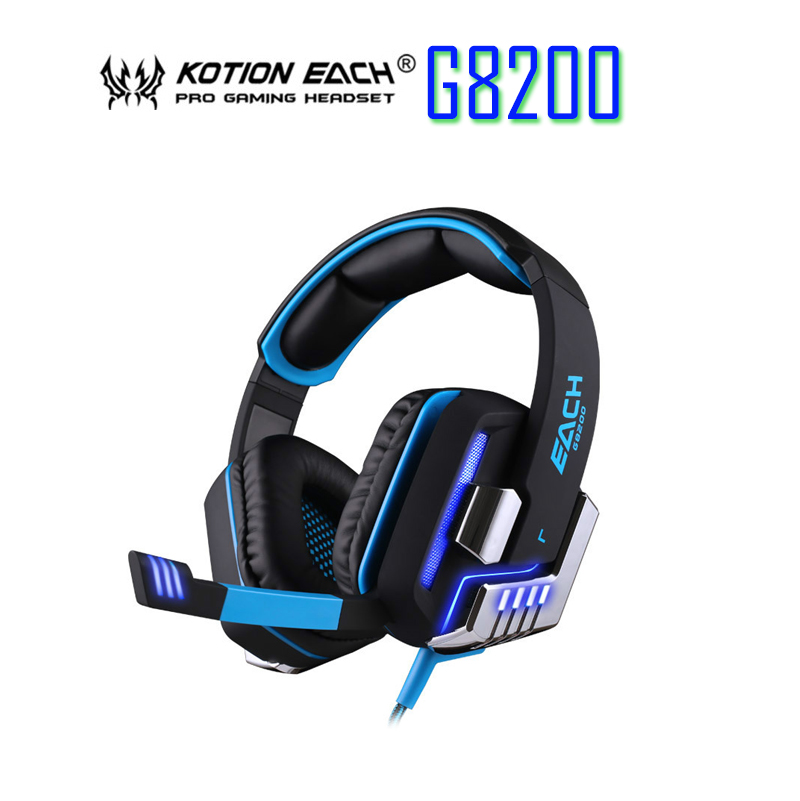 G8200 Game Headphone 7.1 Surround USB Vibration Gaming Headset Headband Earphone with Microphone LED Light for PC Gamer xiberia k9 usb surround stereo gaming headphone with microphone mic pc gamer led breath light headband game headset for lol cf