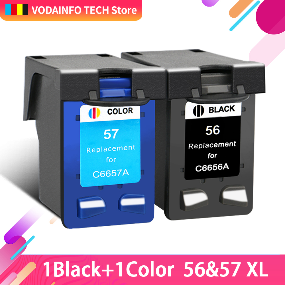 QSYRAINBOW  compatible for hp56 for hp57 Ink Cartridge for HP PSC 4200 1110 1205 1210 1215 1219 1315 1340 1350 2210 2420|Ink Cartridges| |  - title=