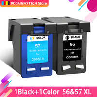 QSYRAINBOW compatible para hp 56 hp 57 cartucho de tinta para hp PSC 4200, 1110, 1205, 1210, 1215, 1219, 1315, 1340, 1350, 2210, 2420