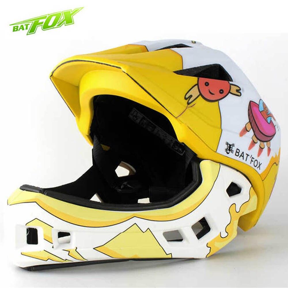 BATFOX casque pour enfants casques de vélo intégral garçons filles enfants moto cross enfants casque de vélo casco infantil cascos para moto