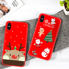 цена на Christmas Series Phone Cases For iPhone 6 6S 7 8 Plus Tpu Soft Shell Cover For iPhone X XR XS MAX Christmas Tree / Snowman Case