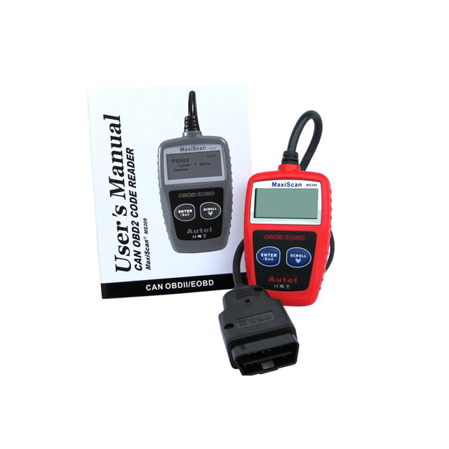 New Arrival MaxiScan MS309 OBD2 OBDII EOBD MS309 Scanner Car Code Reader Data Tester Scan Diagnostic Tool