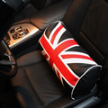 UK Flag Car Seat Waist Support Pillow PU Leather PVC Car Soft neck Cotton Pillow Auto Interior Seat Accessories British Style