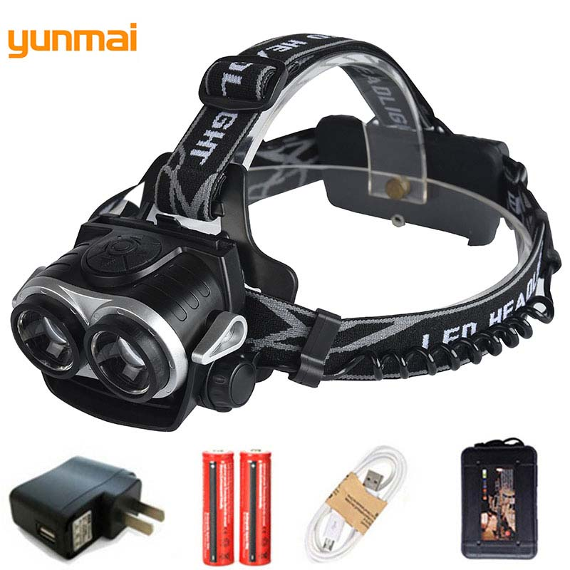 8000LM LED Rechargeable HeadlampSuper Bright CREE Head Torch 4 Modes Waterproof