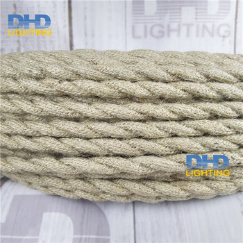 20m/lot 2x0.75 Vintage rope Wire Twisted Cable Retro Braided Electrical Wire Fabric Wire DIY pendant lamp wire vintage lamp cord