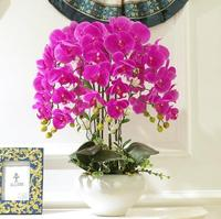 Искусственные цветы ваза Орхидея домашний декор украшения. Рождественские украшения для дома