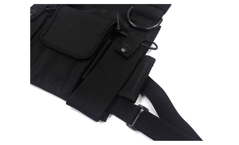 HTB1DxyjJYPpK1RjSZFFq6y5PpXac - adjustable Black Vest Hip Hop Streetwear Functional Tactical Harness Chest Rig Kanye West Waist Pack Chest Bag Fashion Nylon c5