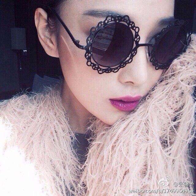Metal circle laciness sun glasses flower cutout lace women's sunglasses personalized vintage - DIDI IPstore store