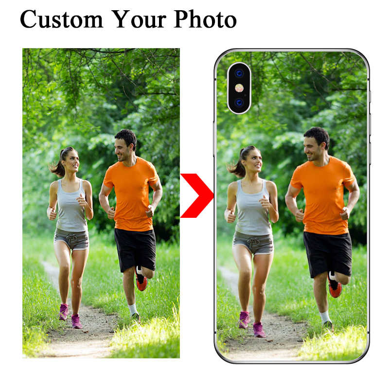 Custom Case For Huawei P20 Lite Huawei P30 Pro P8 P9 P10 Plus Honor 8X 10 9 Cover Customized Photo Name For Huawei Mate 20 Lite