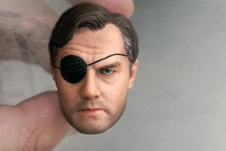 """1/6 scale figure doll head shape for 12"""" action figure doll accessories The Walking Dead The Governor male Head carved"""