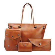 Mujeres conjunto de cuero artificial bolsos crossbody bolsos bandolera mujer de asa superior set mujer totes nuevo diseño de alta calidad