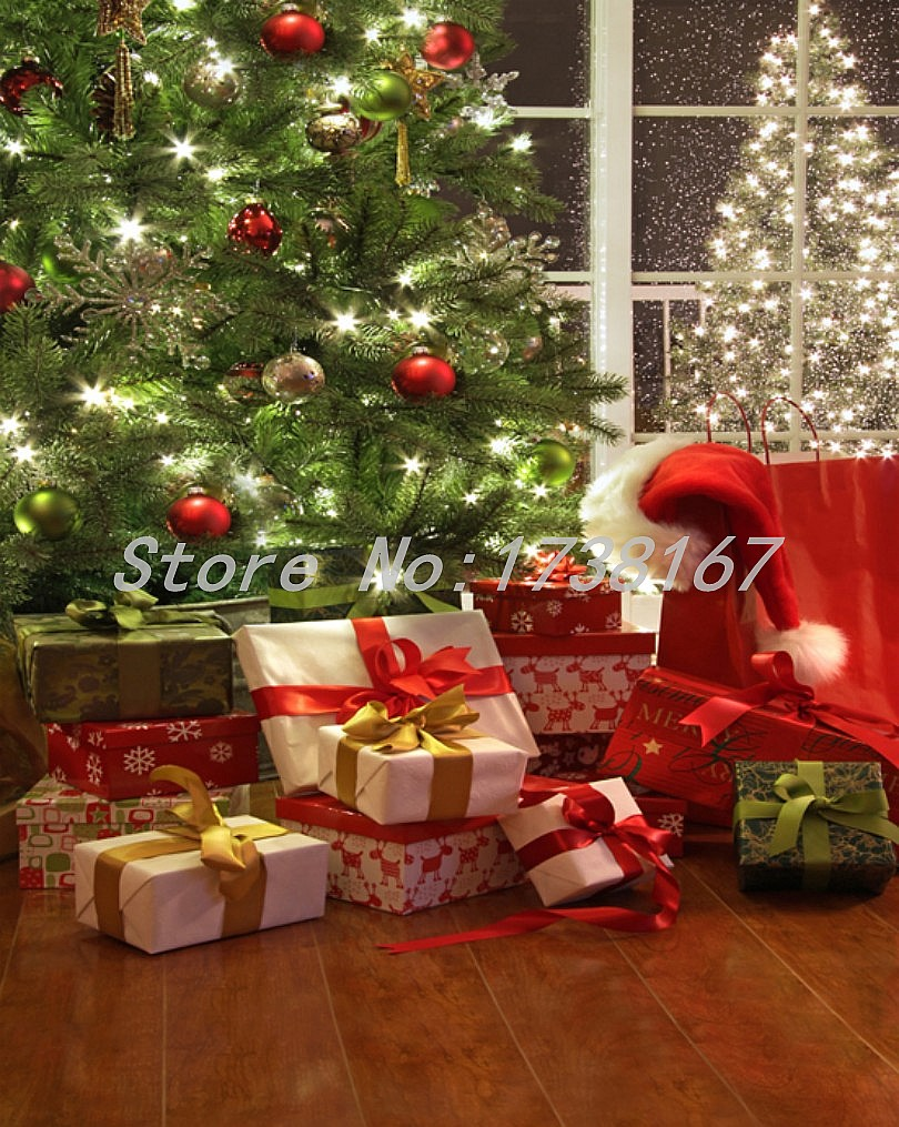ФОТО Photography  Background Christmas Gift Vinyl  Backdrops 200cm *300cm Hot Sell Photo Studio Props Baby L873