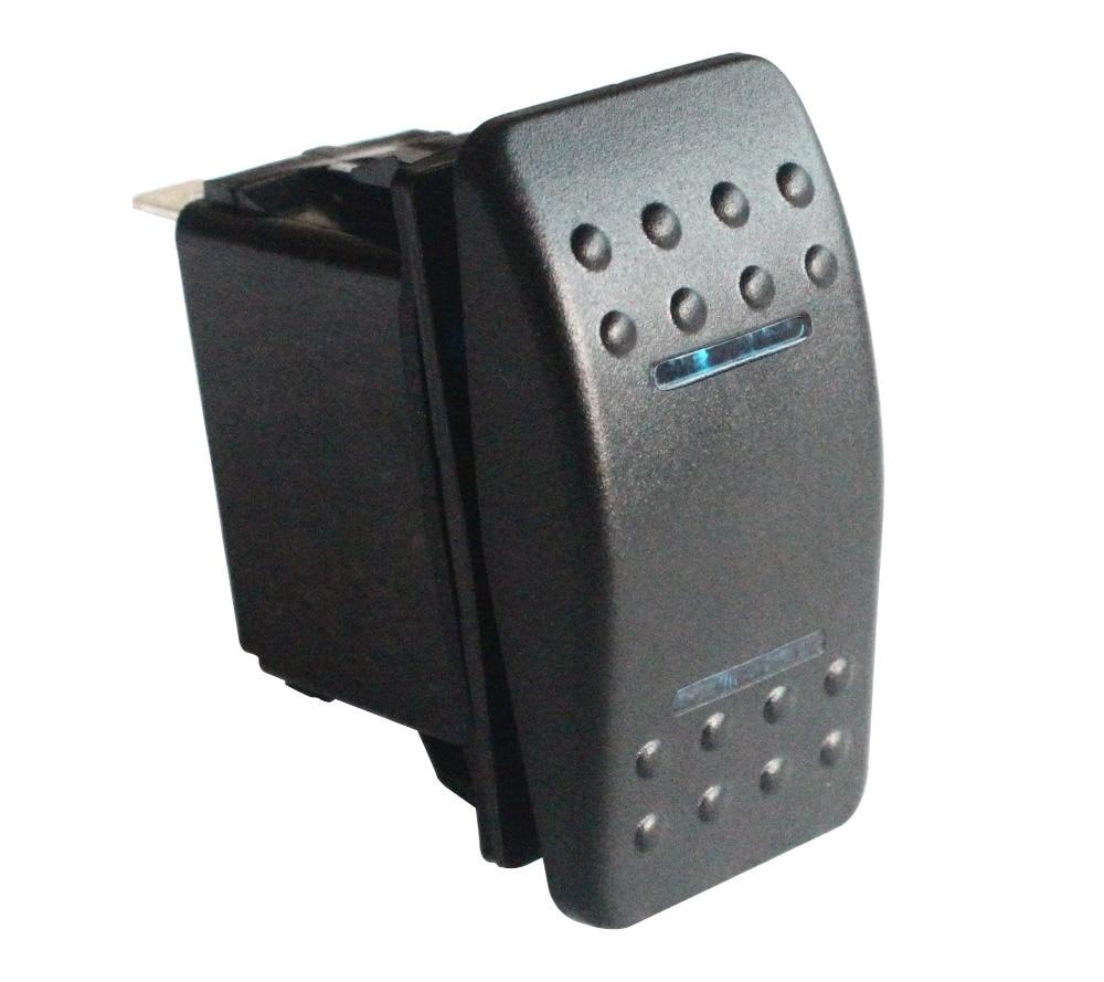 Boat Car Rocker Switch Blue LED ON-OFF 12V 24V SPST LED Light Bar Waterproof