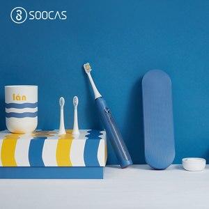 Image 3 - Soocas X3/X5 sonic חשמלי מברשת שיניים Soocas X3 משודרג למבוגרים עמיד למים Ultra sonic אוטומטי מברשת שיניים USB נטענת
