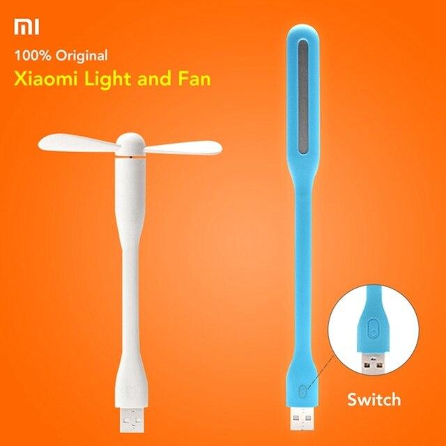المحمولة الأصلي شاومي Mijia صغيرة USB ضوء مرنة انفصال USB مروحة Xiomi المحمولة LED ضوء مع التبديل التحكم 5 فولت 0