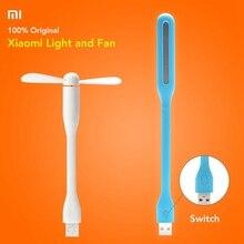 Taşınabilir orijinal Xiaomi Mijia küçük USB ışık esnek ayrılabilir USB Fan Xiaomi taşınabilir LED ışık anahtarı kontrol 5V 0
