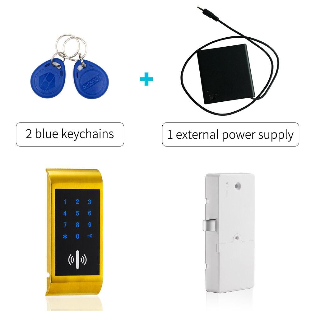 Electronic Keypad Passcode Gym Locker Lock with external power supply high quality universal metal electronic digital rfid gym magnetic locker lock