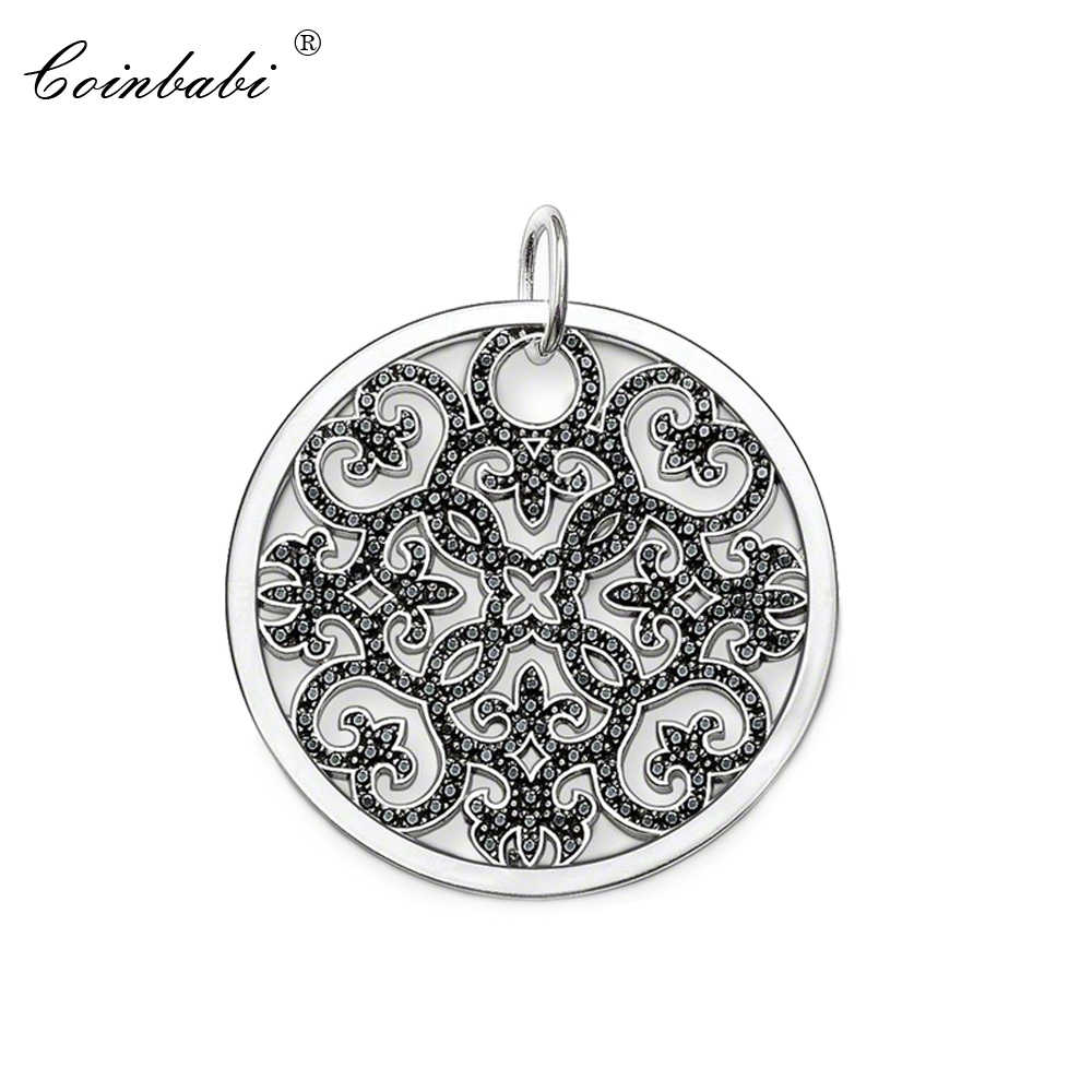 Hanger Arabesque Disc Wijnstok 925 Sterling Zilver Voor Vrouwen Classic Gift Thomas Style Glam Hanger Ornament Fit Ts Soul Ketting