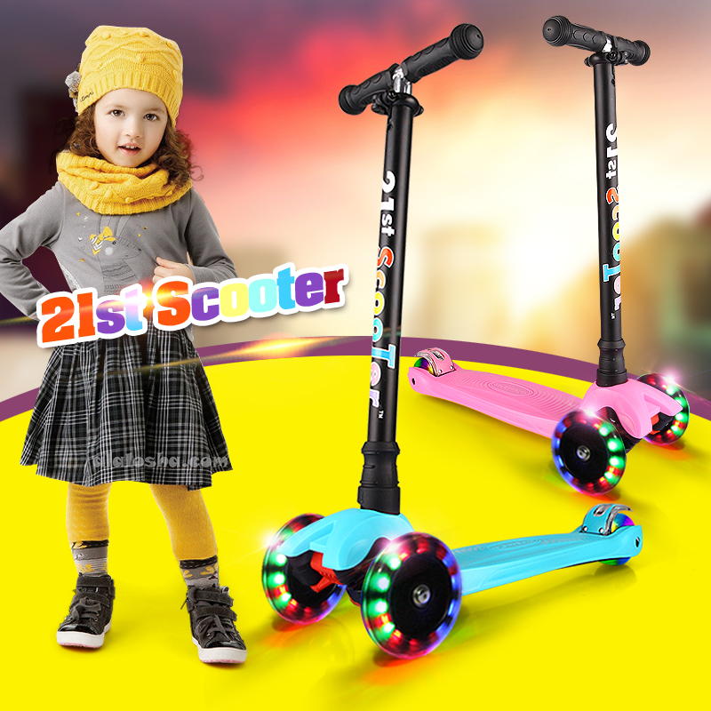 Bicicleta Infantil 21-ე სკუტერი Flash Wheel - გარე გართობა და სპორტი - ფოტო 4