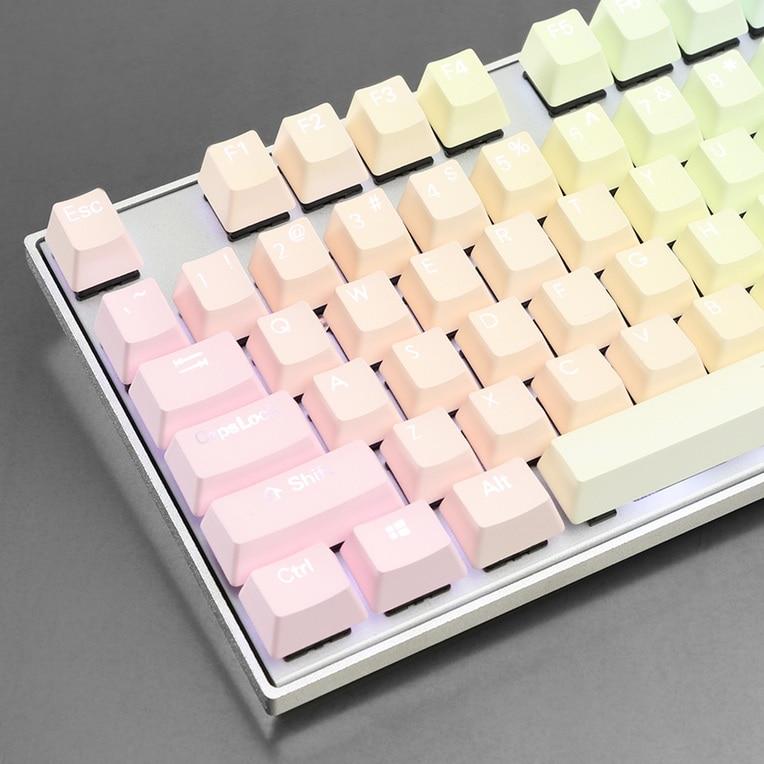 Rétro-éclairé coup Double Arc-En-Gradient PBT Keycap Ensemble OEM profil keycaps pour clavier mécanique