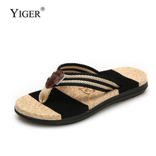 YIGER New women Slippers flip flops men slippers couple Manufacturers mens beach shoes Large Size 36-45 2019 summe 271