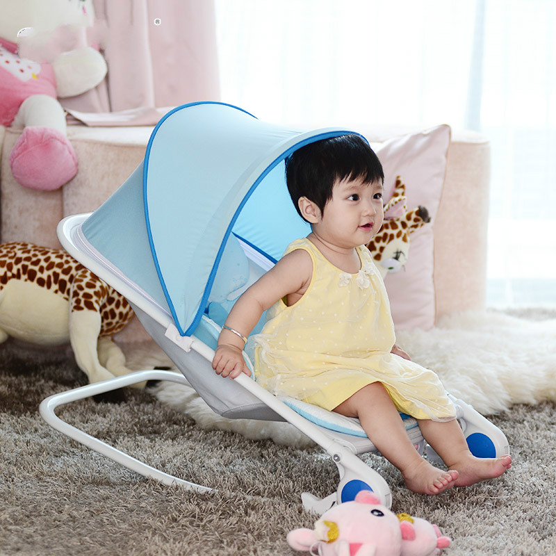 High quality multifunctional the newborn  baby  rocking chair  folding chair to appease the baby at a sale 2017 new babyruler portable baby cradle newborn light music rocking chair kid game swing