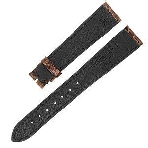 Image 2 - ZLIMSN באיכות גבוהה אופנה בעבודת יד עור עגול תנין עור רצועת עבור גברים ונשים של אוניברסלי 16mm 18mm 19mm 20mm 22mm