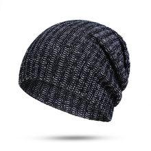 Nuevo 2018 sombrero de invierno para las mujeres hombres caliente gorras de  Punto Rojo Negro gris ea7422da95f