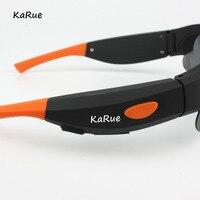 Karue New 720P Camera Smart Glasses Black Orange Polarized Lens Sunglasses Camera Action Sport Video Camera