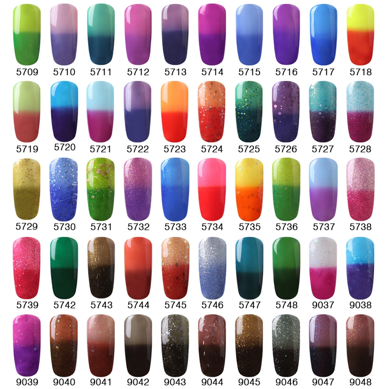 Elite99 Whole All 100 Pcs Nail Gel Chameleon Changing Temperature Change Color Lacquer Nails 10ml In From Beauty