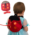 2017 Baby Harness Removable Tether Strap Baby Kids Keeper Toddler Safety Rein Ladybird Backpack Bag Small Cute Red Baby Leashes