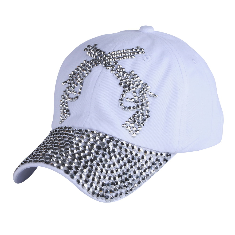 new hot sale double gun pistol pattern women girl hip hop snapback hat novelty rhinestone woman baseball cap custom luxury gorra