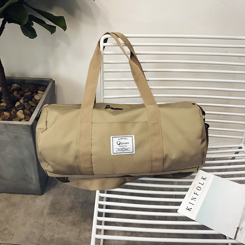 Купить с кэшбэком Travel Bag Men Women Sports Fitness Bag Portable Messenger Drum Bag Oxford Duffel Yoga Admission Package Women Handbag Canvas