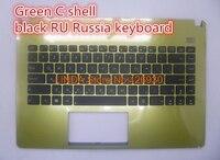 Laptop Palmrest Keyboard For ASUS X401 X401A X401U Green C Shell Black UK United Kingdom RU