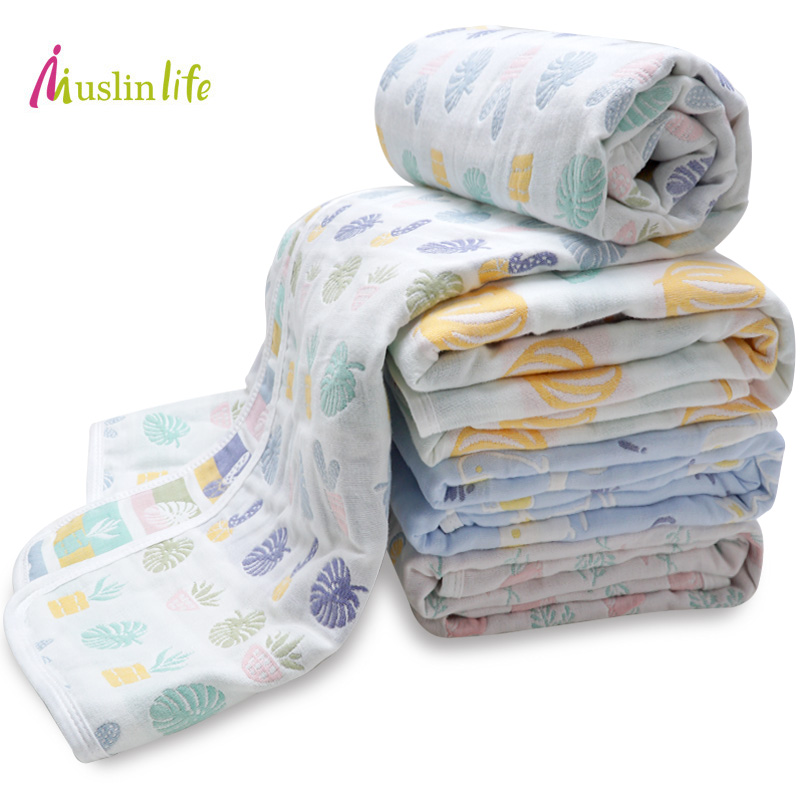 Muslinife Muslin Baby Blankets Kids Children 6 layers Gauze Cotton Soft Newborn Infant Swaddle Towel Kids Bath Towel 110*110cm newborn 100% cotton baby blanket infant muslin kids soft bath shower towel baby gauze swaddle receiving blankets 110cm 110cm