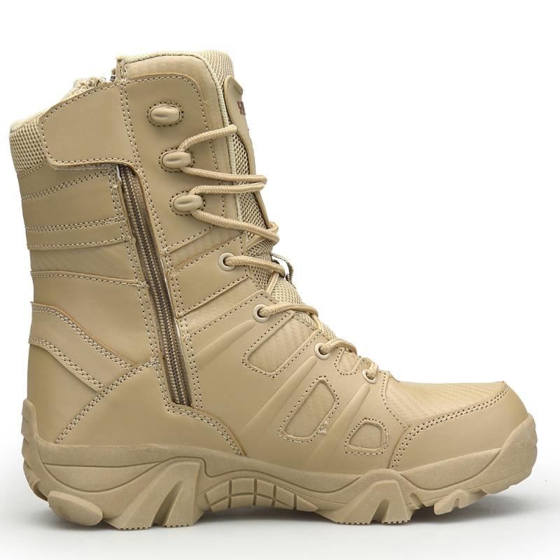 Boot Désert Armée Hommes Militares Noir Ramialali khaki Travail Cheville Swat Safty Bottes Tactique Chaussures Militaire Combat Tacticos Zapatos vqf1C5