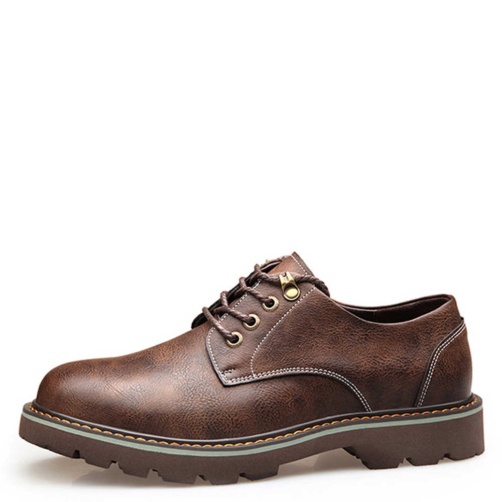 QFFAZ otoño moda PU cuero herramientas zapatos casuales hombres Calzado Hombre Zapatos cómodos suave trabajo Oxfords zapatos hombres botas - 2
