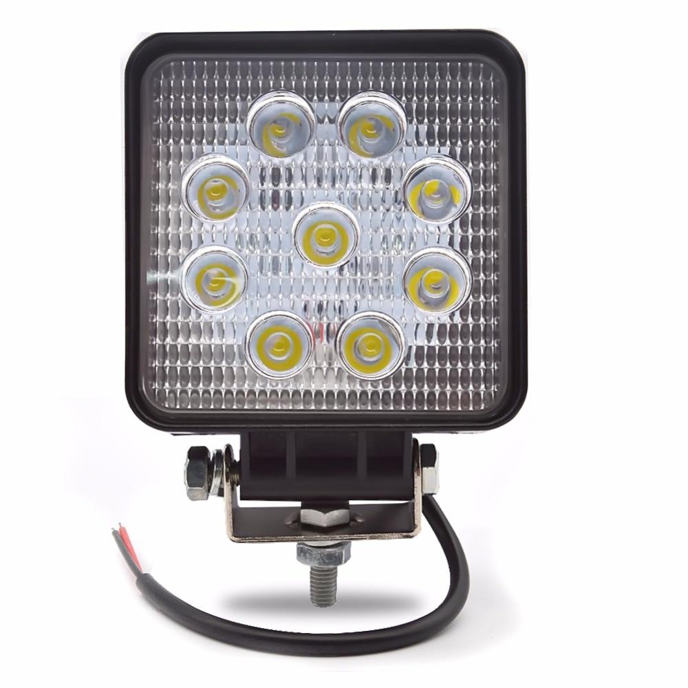 4PCS Λυχνία εργασίας LED 4 ιντσών 27W Λάμπα - Φώτα αυτοκινήτων - Φωτογραφία 2