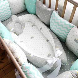 80*50 см детское гнездо кровать портативный кроватки путешествия кровать для малышей хлопок колыбели новорожденных люлька бампер