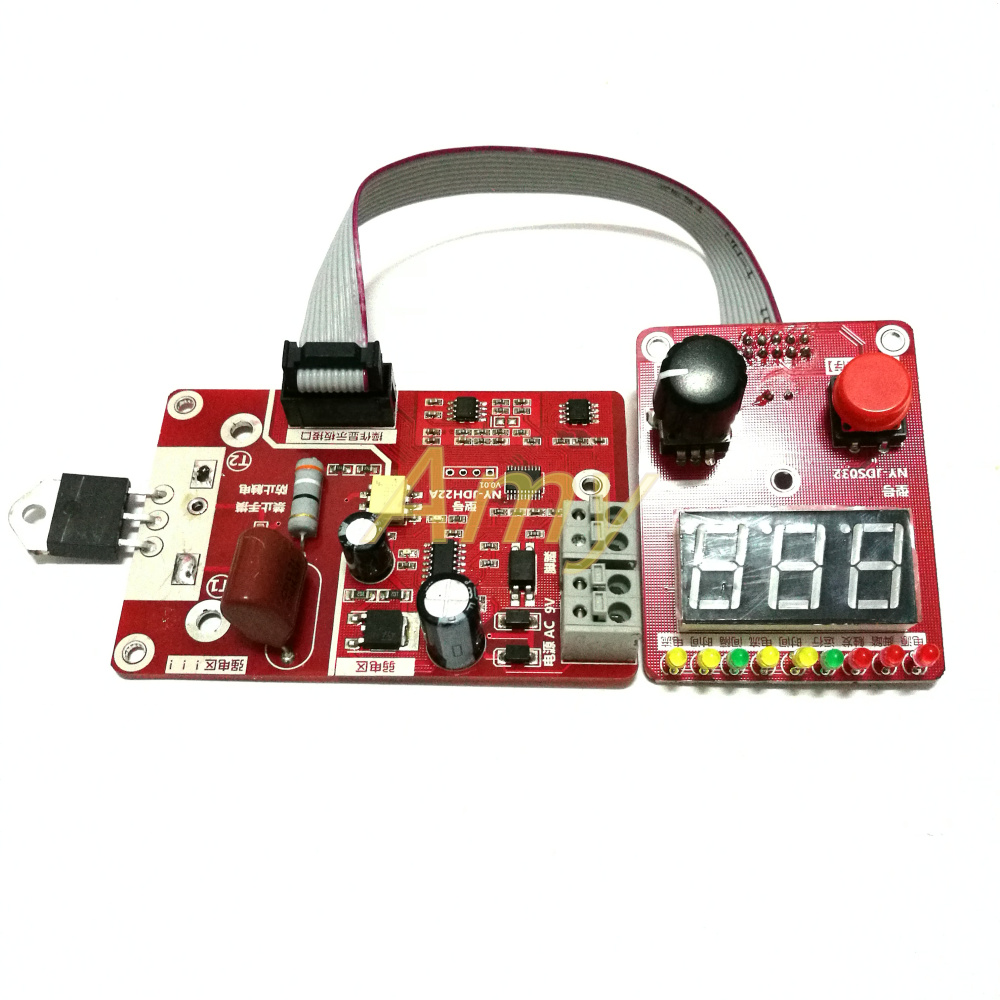 Double Pulse Encoder Spot Welding Current Time Control Panel Counting With Voltage Compensation Digital Display 40A